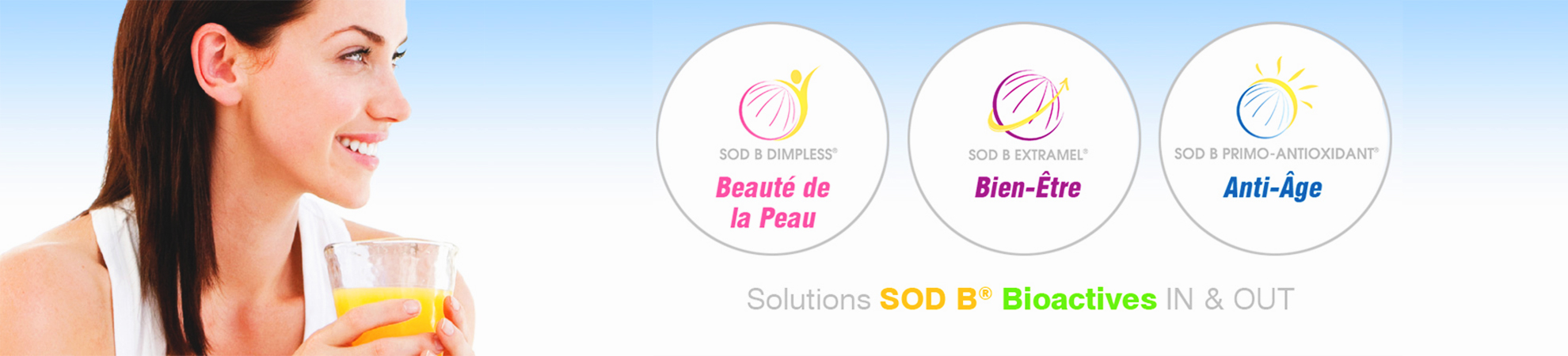 Solutions SOD B bioactives in & out