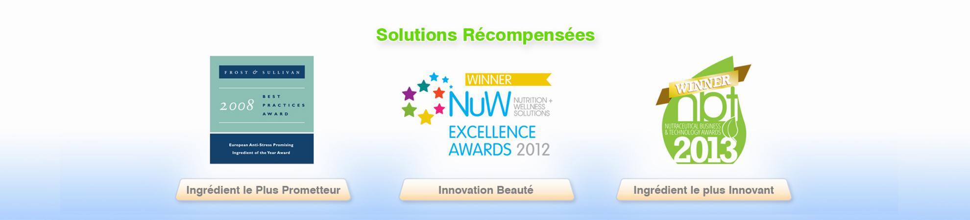 Bionov solutions récompensées